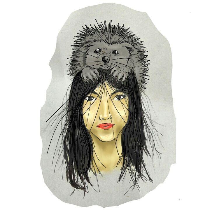 """71 Suka, 8 Komentar - Aidillah Naring (@bukan_senimang) di Instagram: """"""""Wanita Landak""""  #art #art🎨 #women #lady's #artspotlight #artwork #artjob #artgalery #artists…"""""""