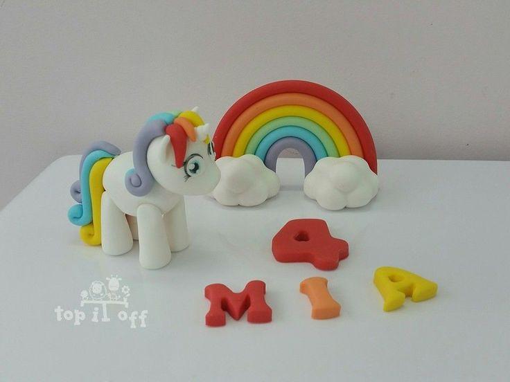 Rainbow Cake Decorations Uk : The 25+ best ideas about Unicorn Cake Topper on Pinterest ...