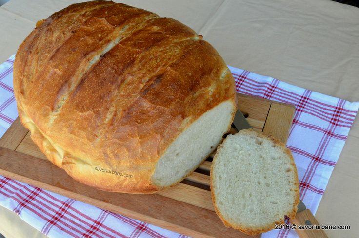 Paine de casa traditionala ungureasca - coapta in oala. O reteta de paine pufoasa, cu coaja foarte subtire si rumena facuta dintr-un aluat de paine fara