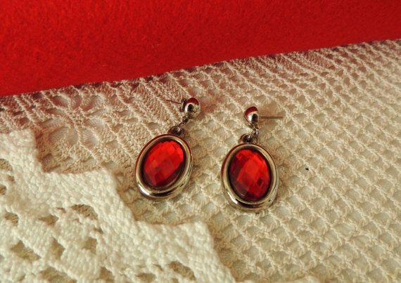 Vintage Earrings Czech Earrings Vintage Jewelry by dreambox4you
