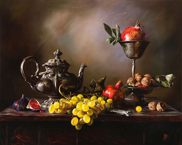 Hüseyin Feyzullah – 'Natürmort', 80×100 cm, TÜYB, 2016