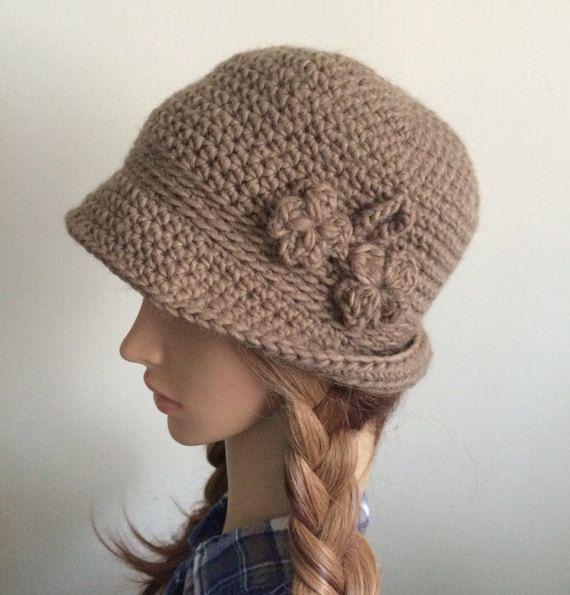 Crocheted bowler hat.Winter bowler hat.Fedora hat.Winter by TemiM