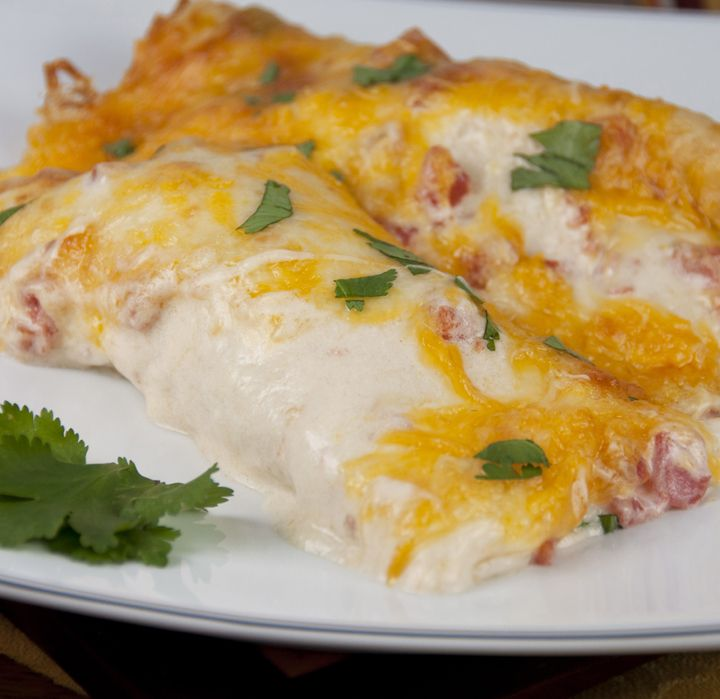 Sour Cream Chicken Enchiladas - Wishes and Dishes