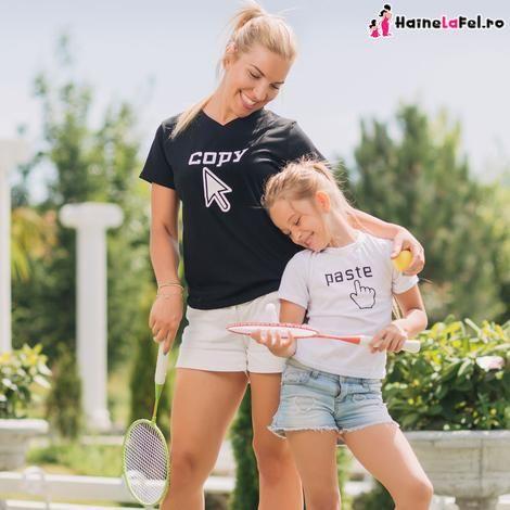 tricouri mama-fiica Copy-paste, colectia 2018