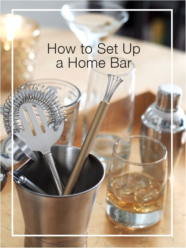 Easy tips to set up a basic home bar for a cocktail party. #bartending