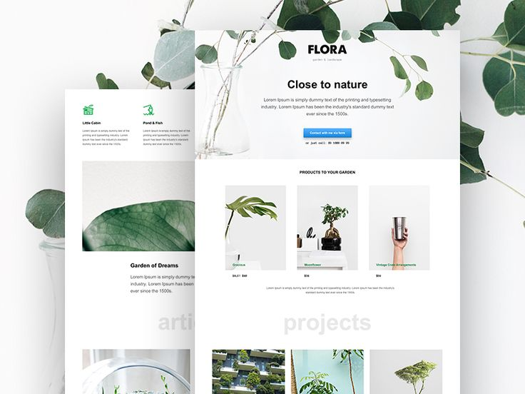 Muse Template for Landscape Design Studio by Marcin Czaja