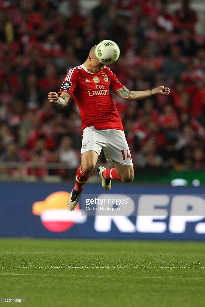 Benfica's defender Victor Nilsson-Lindelof during the match between SL Benfica and Vitoria de Guimaraes for Portuguese Primeira Liga at Estadio da Luz on April 29, 2016 in Lisbon, Portugal.
