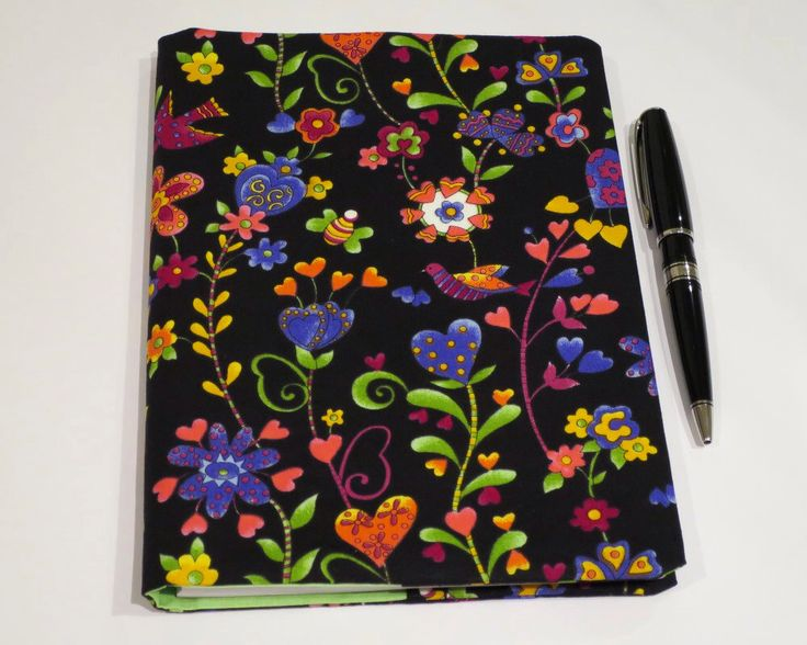 Fabric Book Cover, Suits A5 Notebook, Bonus Notebook Included, Colourful Bright Flower Fabric, Pretty Journal or Diary for Her, Gift Idea by JadoreBooks on Etsy https://www.etsy.com/listing/262214499/fabric-book-cover-suits-a5-notebook