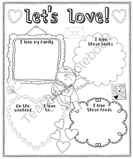 Valentines Day Poster from Pioneer Teacher on TeachersNotebook.com -  (1 page)  - Valentine's Day Poster