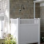 Outdoor shower heads patio traditional with cedar shake siding stepping stones