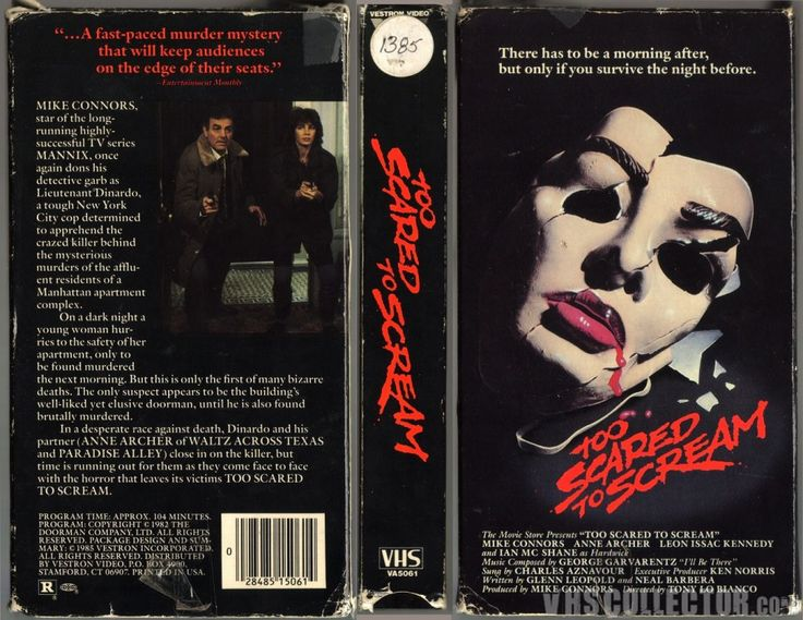 'Your blood runs cold… your heart jumps into your throat.' Too Scared to Scream is a 1982 American psycho thriller film directed by actor Tony Lo Bianco from a screenplay by Neal …