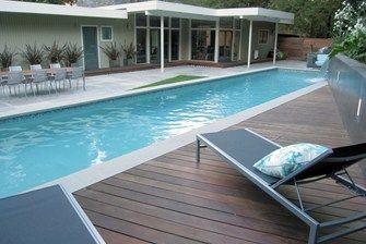Pool Deck Materials - dark ipe wood