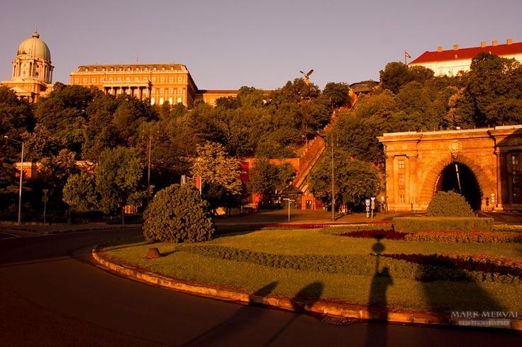 Budapest, Clark Adam square & the National Gallery.