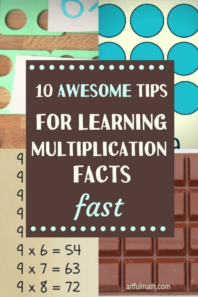 10 awesome math tips for learning multiplication facts FAST ...