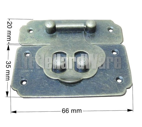 {Description} This goods is Vintage big size 66mmx55mm square box latch / small box hardware / jewelry box latch / gift boxes latches / chest