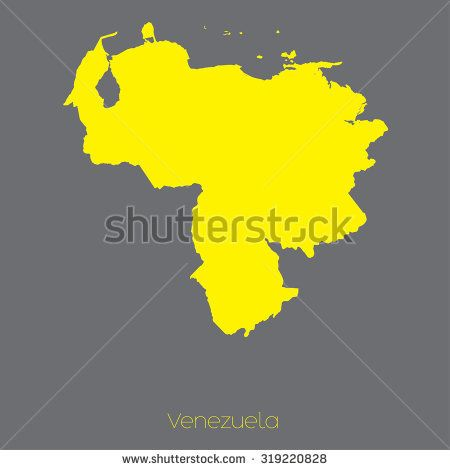 A Map of the country of Venezuela