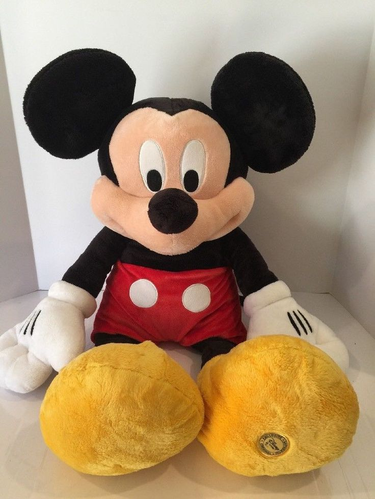 "Authentic Big Mickey Mouse Plush Disney Store Theme Park Large 32"" Stuffed Toy  | eBay"