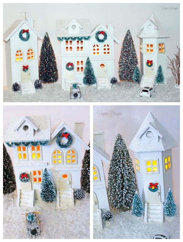 Michaels Christmas Craft Ideas Part - 38: Easy DIY Christmas Village