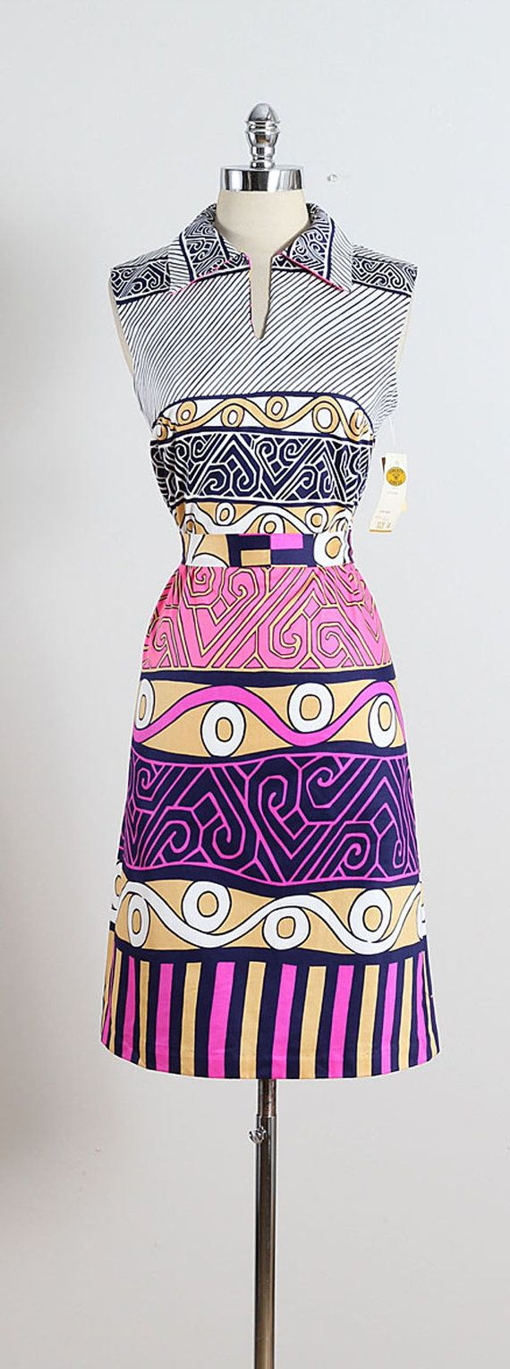 ➳ vintage 1950s dress * bright & colorful cotton * new with tags * detachable belt * back zipper * by Liberty Circle condition | excellent