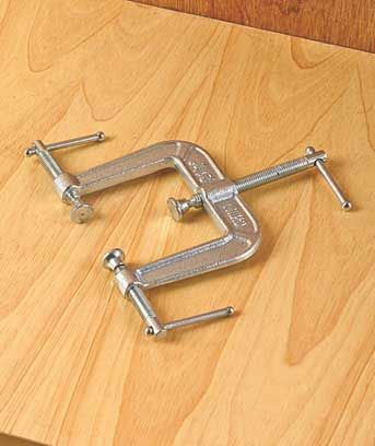 """Tackle any mending job or woodworking project with these Specialty Clamp Tools. The Set of 2 90-Degree Clamps (7""""W x 7""""D x 1-1/2""""H, each) works as adjustable co"""