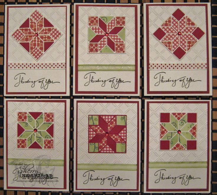 quilt cards by Sherry Kushibab