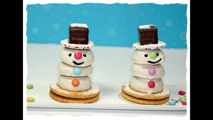 Zuckersüße Schneemänner, Basteln mit Kindern, Kinderküche - YouTube
