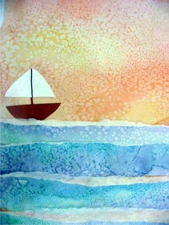 Watercolours and salt - interesting effect to use for Antarcticart snow/icebergs etc