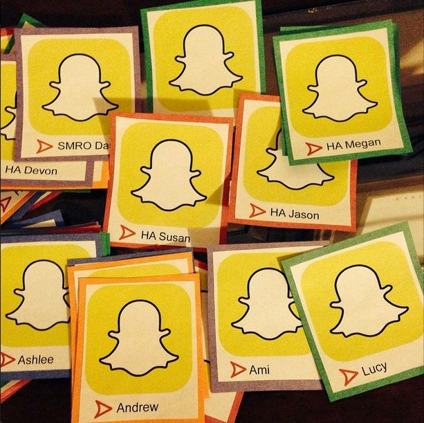 Snapchat door decs - You could have the residents post selfies on them to make them more personal