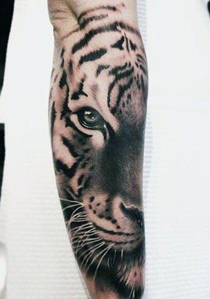 Tiger Eyes Men's Tattoos
