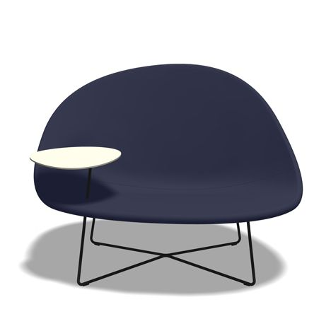 Swedish designers Claesson Koivisto Rune present this lounge chair with a little work table attached
