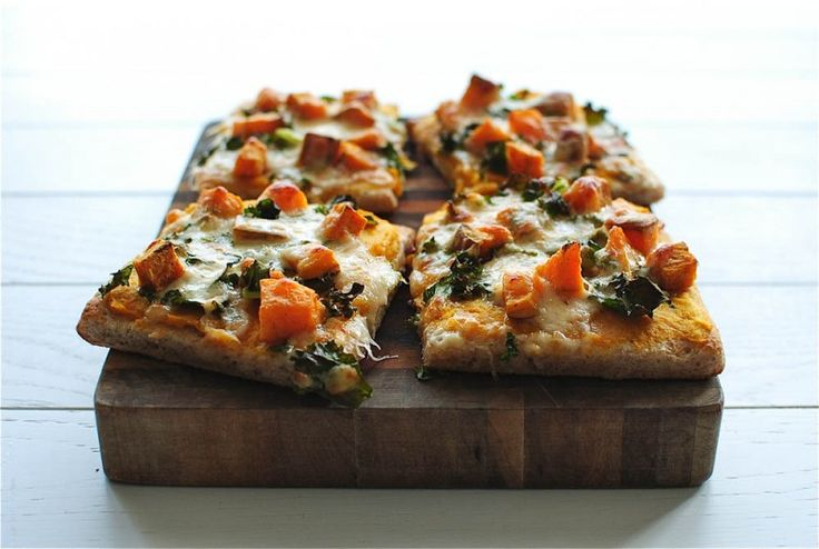 Roasted Butternut Squash Pizza / Bev Cooks
