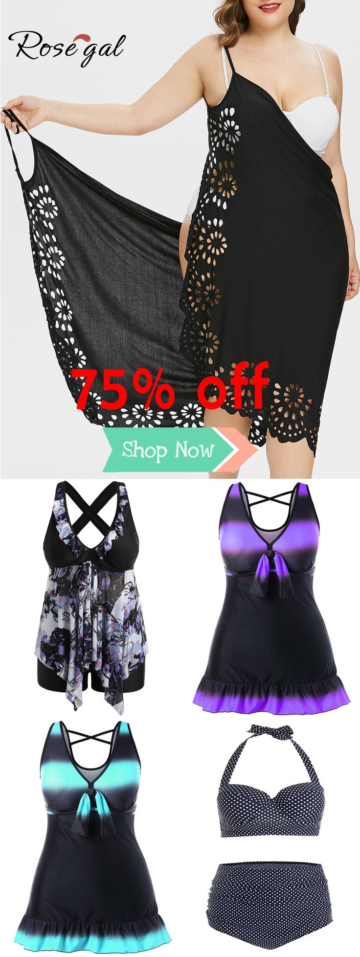 Rosegal Plus Size Badeanzug und Coverup Kleid Ideen für kurvige Mädchen