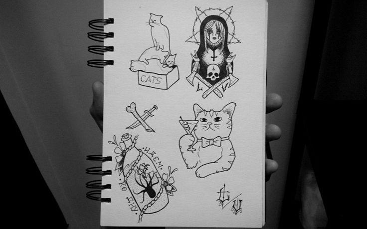 #tattoo #tattoos #sketch #traditional #cat #matryoshka #cats #bottle #drink #designtattoo #LxV #drawing #ink #tattooideas