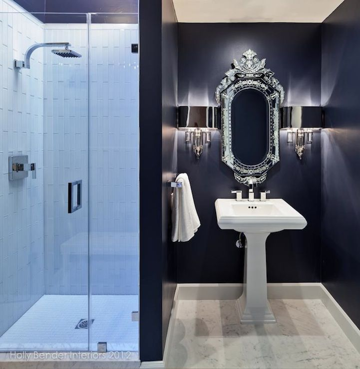 408 best images about bathroom decor on pinterest for Bathroom ideas navy blue