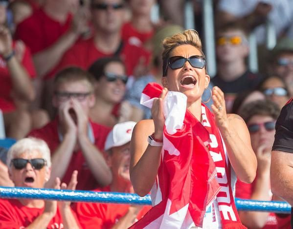 July 14 - Rowing. After 3 gold medals today at Royal Canadian Henley Rowing Course in St. Catharines, the Canadian fans are elated.