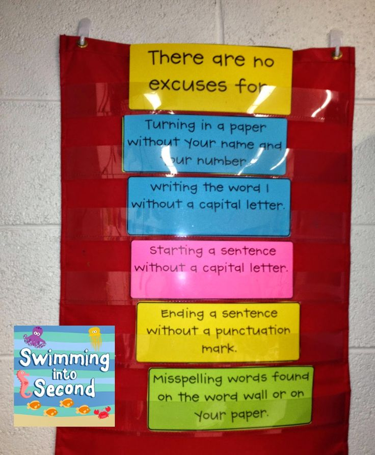 Swimming Into Second: N is for No Excuses (ABCs of 2nd grade)