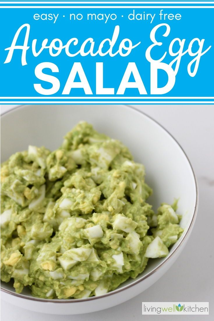 Avocado Egg Salad Recipe No Mayo