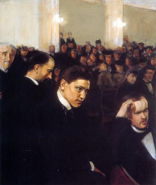 Magnus Enckell (Finnish, 1870-1925), The Concert, 1898. Oil on canvas, 90 x 76 cm. Ateneum Art Museum, Helsinki.