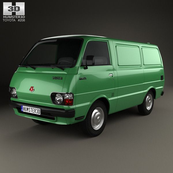 Toyota Hiace Panel Van 1977 3d model from humster3d.com. Price: $75