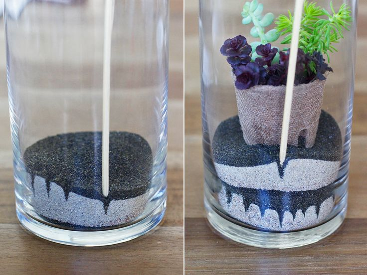 Attention green friends: my second kit with Makers Kit drops today! It was a recent obsession with cultivating my own green thumb (more on that later) and a nostalgic rediscovery of sand art that inspired the concept behind this easy to make terrarium. I've always enjoyed building my own mini