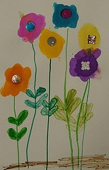 paint blobsPhotos, Painting Blob, Bloom Art, Art Ideas, Flower Power, Children Art, Art Projects
