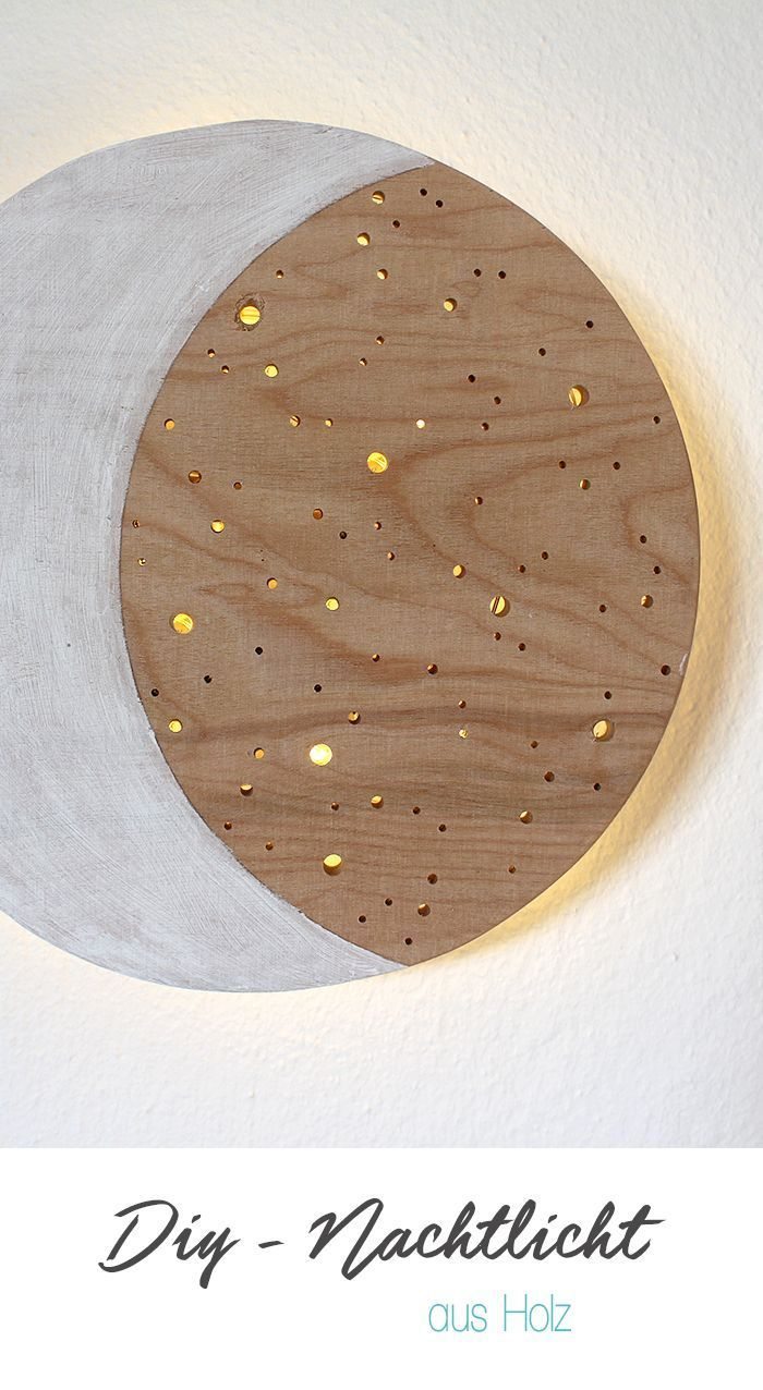 DIY, Nachtlich, Gingered Things, Holz, Kinderzimmer, Deko, Lichterkette, selber bauen, werken, sägen, kreativ, Mond