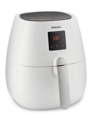 Philips Viva Digital Air Fryer #williamssonoma -- The first of its kind, the Air Fryer uses patented technology to fry your favorite foods to crispy, golden brown perfection, using little or no oil. It works by precisely circulating hot air, yielding results that are virtually indistinguishable from traditional deep-fried foods. From French fries and fried chicken to homemade doughnuts, this remarkable innovation lets you enjoy all your best-loved fried foods—without the guilt!