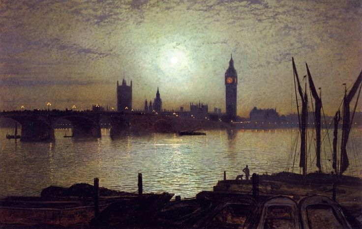 Westminster Bridge by Moonlight - John Atkinson Grimshaw (1880)