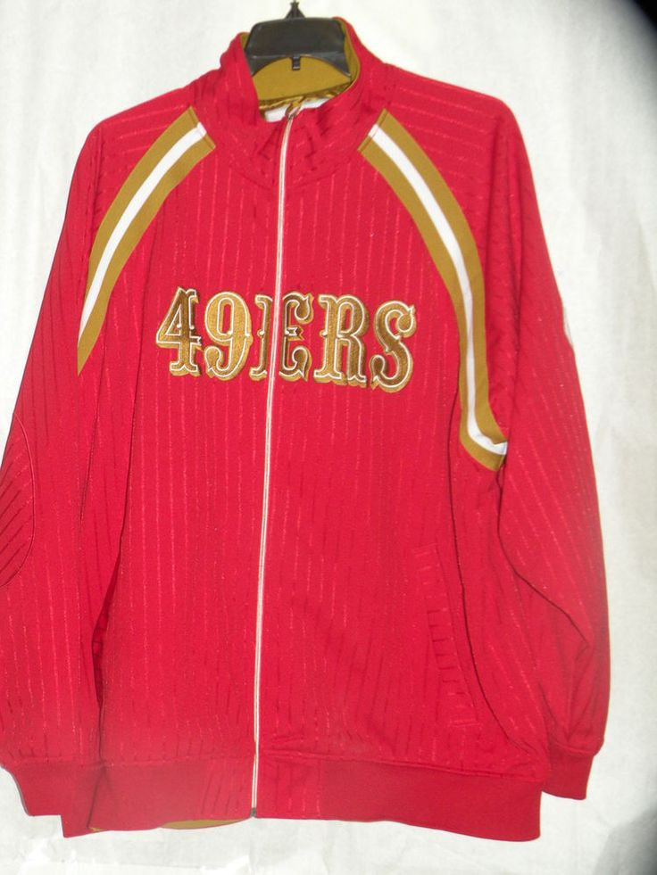 San Fracisco 49ERS jacket coat lined size 56 or 3XL Red with Gold #MitchellNess #SanFrancisco49ers