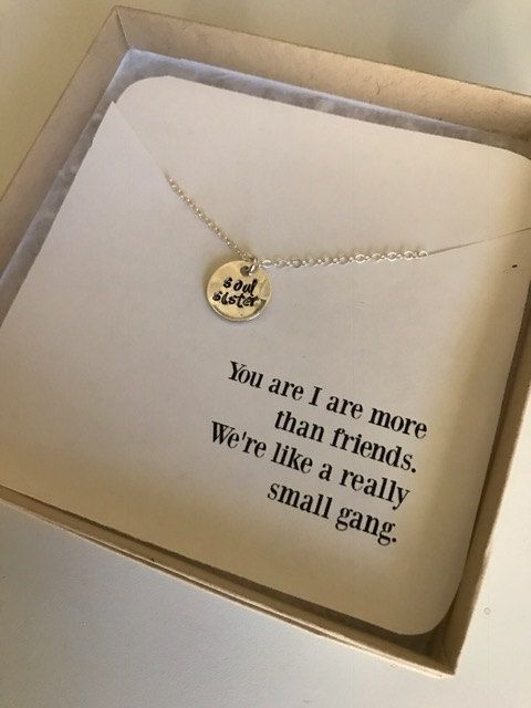 Soul Sister Necklace  Best Friend Necklace  by RoseWaterDesigns