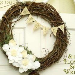 Shabby Flowers Spring Wreath