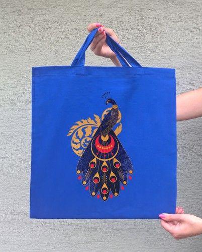 PAW (torba bawełniana z krótkim uchem, kolor niebieski) - tylko 22,50 PLN