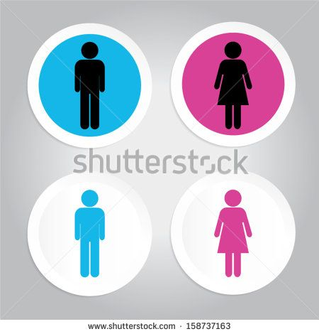 toilet or Restroom signs  - stock vector