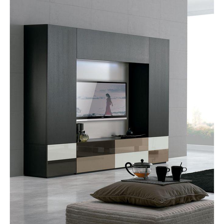 Clara home mueble de televisi n temaa un sal n con for Muebles televisor moderno